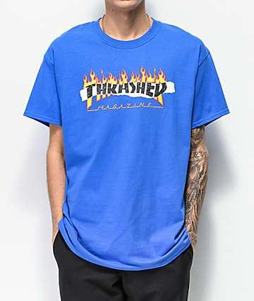 Thrasher Ripped Blue T-Shirt