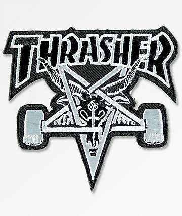 Thrasher Skate Goat Black & Silver Patch
