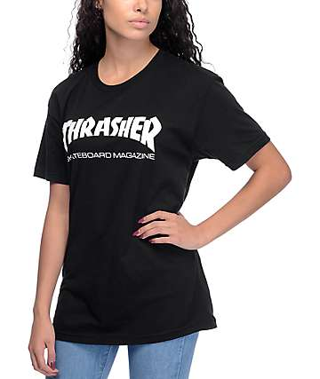 Thrasher Skate Mag Black Boyfriend Fit T-Shirt
