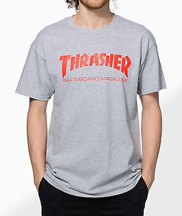 Thrasher Skate Mag Grey & Red T-Shirt