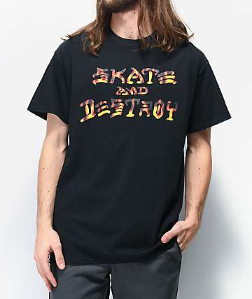 Thrasher Skate and Destroy BBQ Black T-Shirt
