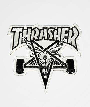 Thrasher Skategoat White & Black Patch