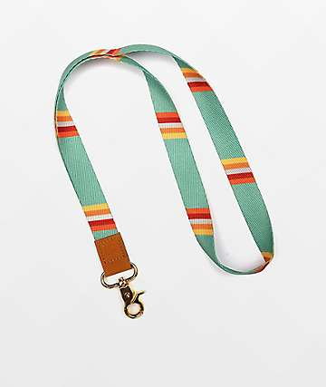 Thread Fleet Green Striped Lanyard