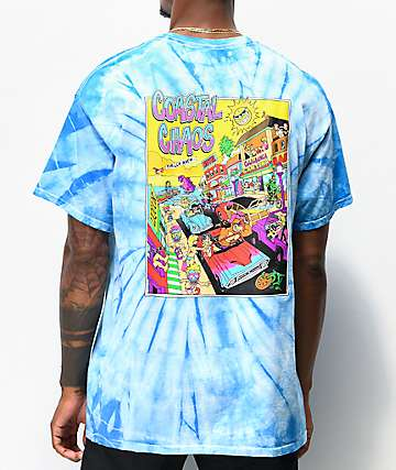 Thrilla Krew Costal Blue Tie Dye T-Shirt