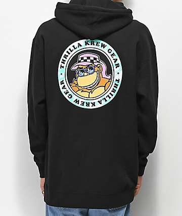 Thrilla Krew Dot Logo Black Hoodie
