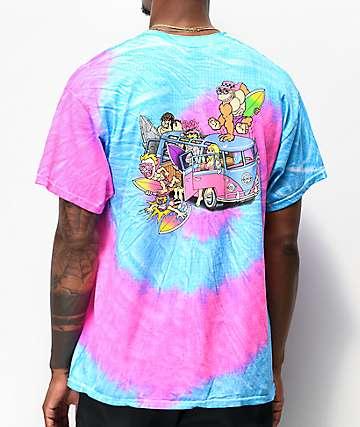 Thrilla Krew Microbus Blue & Pink Tie Dye T-Shirt