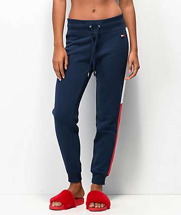 Tommy Hilfiger Navy Panel Jogger Sweatpants