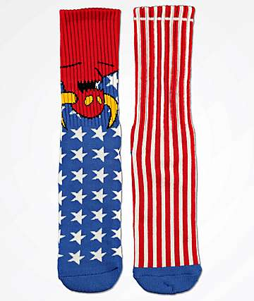 Toy Machine American Monster Crew Socks