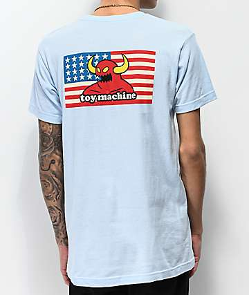 Toy Machine American Monster Light Blue T-Shirt