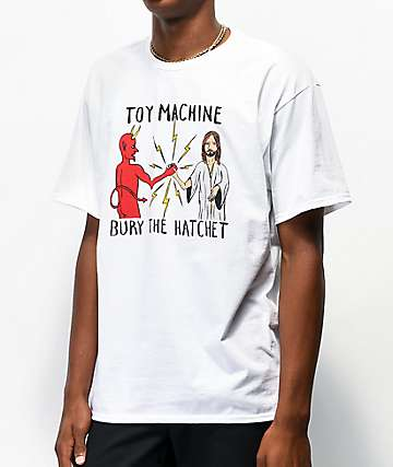 Toy Machine Bury The Hatchet White T-Shirt