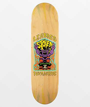"""Toy Machine Leabres Stoked 8.38"""" Skateboard Deck"""