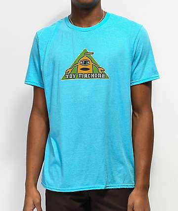 Toy Machine Tri-Sect Heather Mint Blue T-Shirt