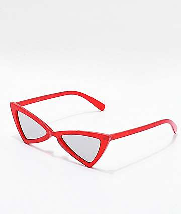 Triangle Frame Red Sunglasses