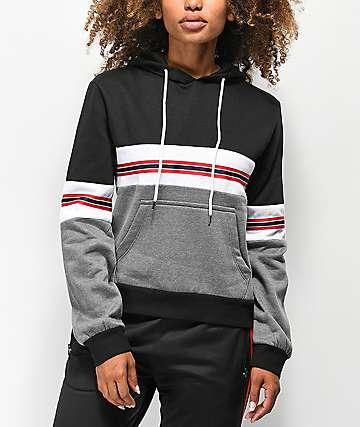 Trillium Black & Grey Colorblock Hoodie