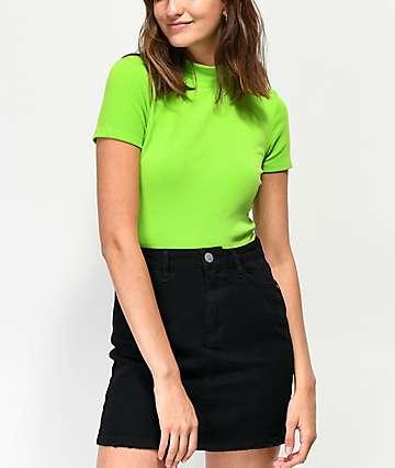 Trillium Kirby Green Mock Neck T-Shirt