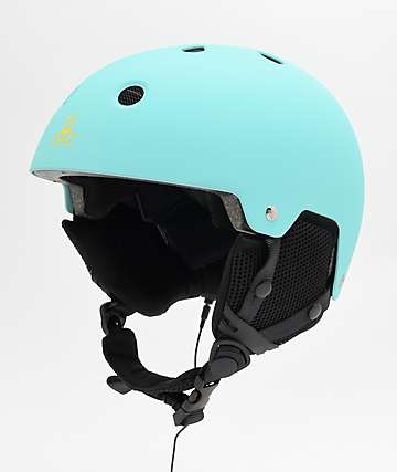 Triple Eight Brainsaver Audio Baja Teal Snowboard Helmet