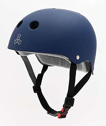 Triple Eight Certified Sweatsaver Navy Rubber Multi-Sport Helmet