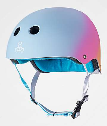 Triple Eight Certified Sweatsaver Sunset casco multideportivo rosa y azul