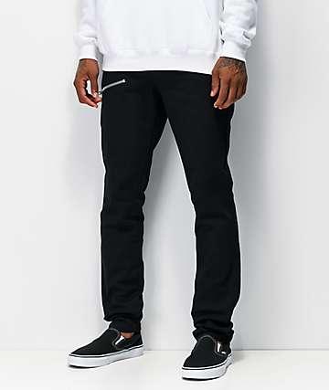 Tripp NYC Biker Zip jeans negros ajustados