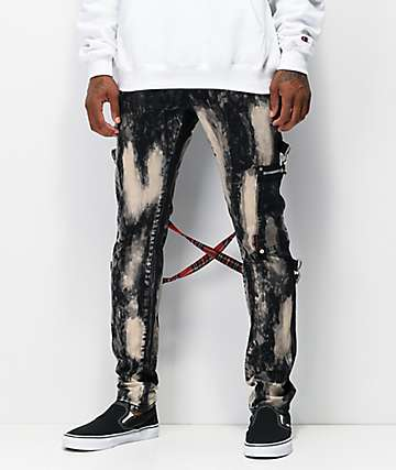 Tripp NYC Chaos Dirty Wash Bondage Pants