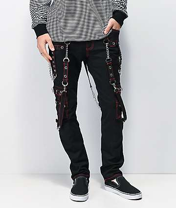 Tripp NYC No Excuses Black & Red Bondage Pants