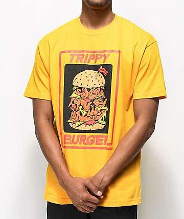 Trippy Burger Babes Gold T-Shirt