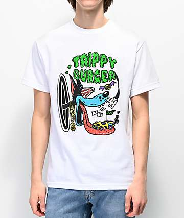 Trippy Burger Tom White T-Shirt