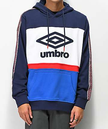 Umbro Blocked Red, White & Blue Hoodie