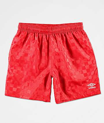 Umbro Checkered Red Shorts