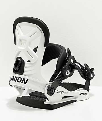 Union Cadet Pro White Snowboard Bindings Kid's 2020