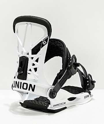 Union Flight Pro White & Black Snowboard Bindings 2020