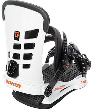 Union STR fijaciones de snowboard en blanco