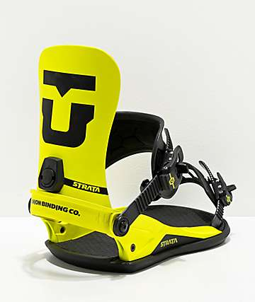 Union Strata Yellow Snowboard Bindings 2020