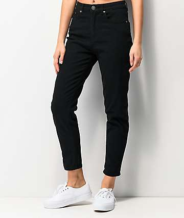 Unionbay Julianne Black Denim Mom Jeans