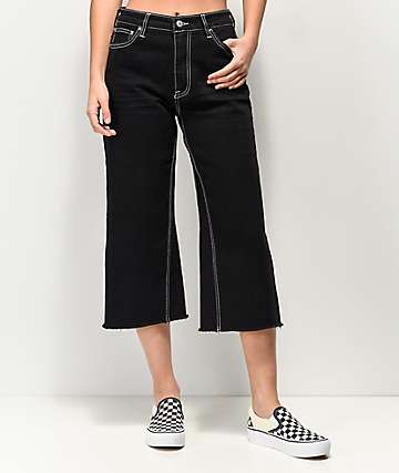Unionbay Regan Black Stretch Denim Cropped Jeans