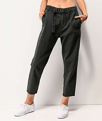 Unionbay Sharon Grey Belted Elastic Waist Pants