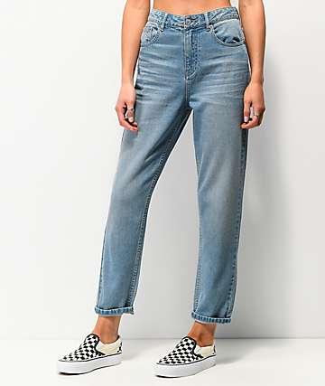 Unionbay Vintage Mom Jeans con lavado claro