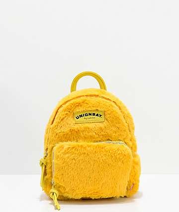Unionbay Yellow Fur Mini Backpack