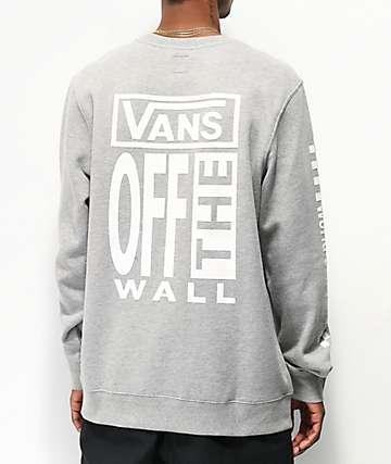 Vans A.V.E Heather Grey Crew Neck Sweatshirt