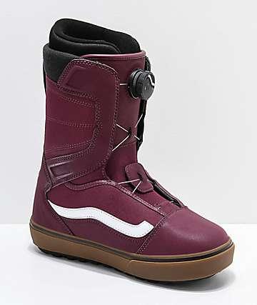 Vans Aura OG Burgundy & Gum Snowboard Boots 2019