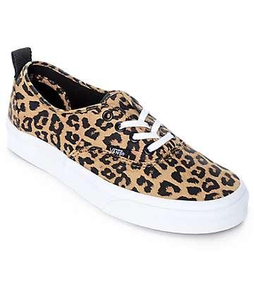 Vans Authentic Leopard Print & True White Skate Shoes