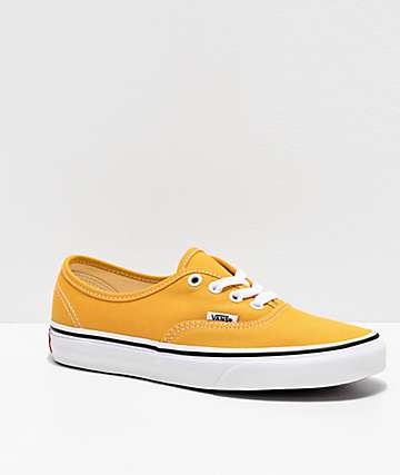 Vans Authentic Ochre & True White Skate Shoes