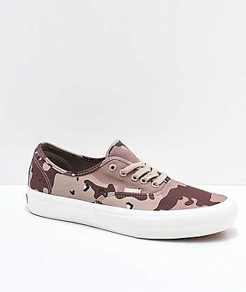 Vans Authentic Pro Desert Camo Skate Shoes