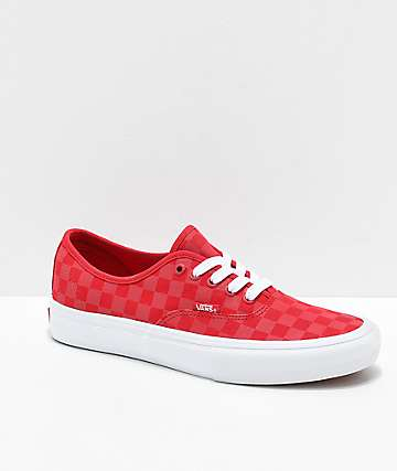 Vans Authentic Pro zapatos de skate rojos reflectantes