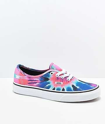 Vans Authentic Tie Dye Skate Shoes