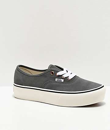 Vans Authentic Vintage Lace Grey Platform Shoes