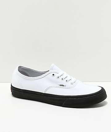 Vans Authentic White & Black Sole Skate Shoes