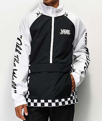 Vans BMX Off The Wall Black & White Anorak Jacket