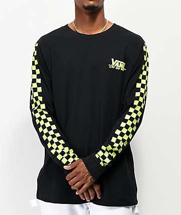Vans BMX Waffle Black Knit Long Sleeve T-Shirt