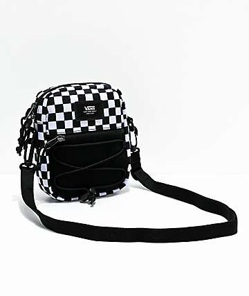 Vans Bail Black & White Checkered Shoulder Bag